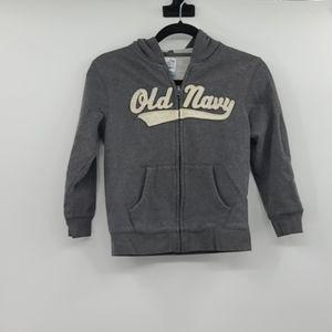 Old navy gray hooded zip up hoodie jacket.